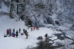 冬の十二滝と温泉ツアー
